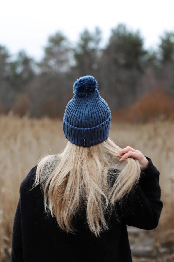 ARCTOS merino wool beanie steel blue