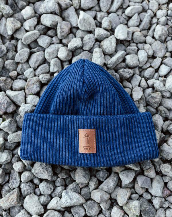 BEACON merino wool beanie denim