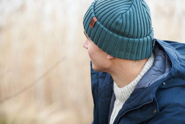 BEAM merino wool beanie fog green