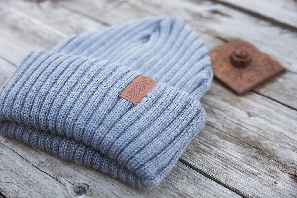 BEAM merino wool beanie grey