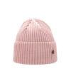 Superyellow light pink Hannah merino wool beanie