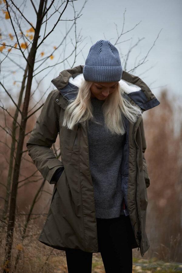HANNAH merino wool beanie light grey