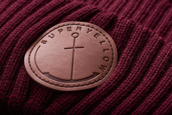 KELO merino wool beanie dark red