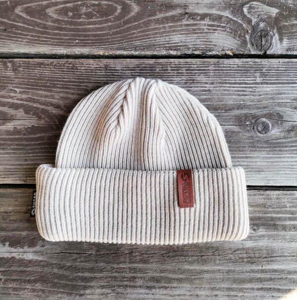 KJEMPE merino wool beanie vanilla