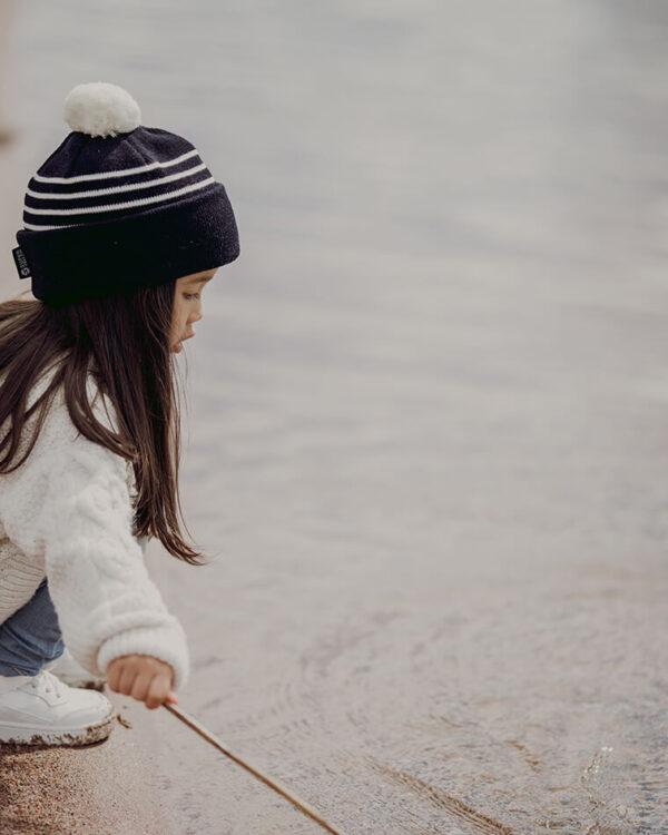 Superyellow kids merino wool beanies