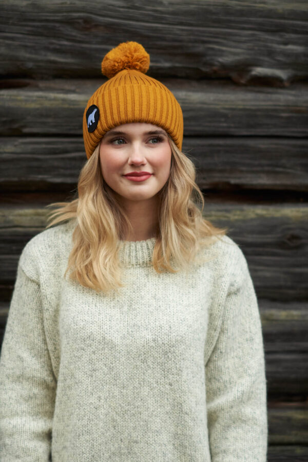 SUPERYELLOW Polar merino wool beanie mustard
