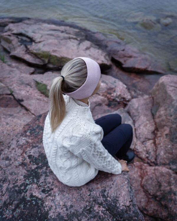 SAAME Merino wool headband light pink