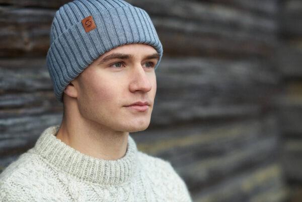 SAILOR merino wool beanie light grey