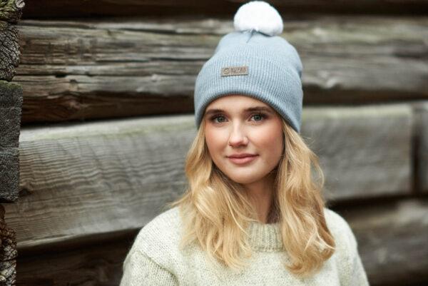 SKANDIC merino wool beanie grey