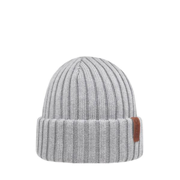 BEAM Icy Grey merino wool beanie