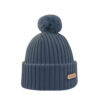KIDE Merino wool beanie steel blue